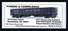 Funaro F&C 6511  KANSAS CITY SOUTHERN Gondola KCS Hopper  AB Brake 1-PIECE BODY