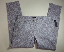 Chaus Womens Printed Lavender Skinny Pants Size 6