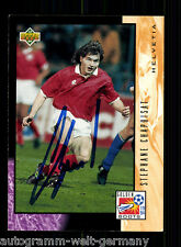 Stephane Chapuisat Helvita Upper Deck WM 1994 Orig. Sign. +A48335
