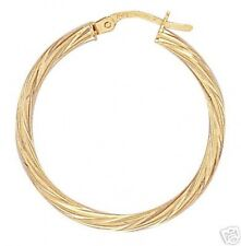 9ct Gold Hoop Earrings    Diameter 2.9cms   1.2gms  2mm Thick  NEW