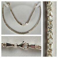 Königskette 925er Silber Collier Kette Silberschmuck Silberkette