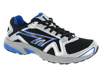 Hi-Tec R156 Sport Running Lace Black Silver Boys Trainers Shoes Fitness
