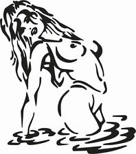 SEXY LADY IN WATER CAR DECAL STICKER