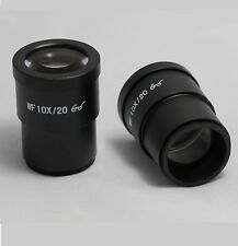 New PAIR OF WF10X/20 High Eye-point EYEPIECES For Compound Microscope 30mm