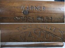 Vintage Game Used Mascot Bat/(jack) ? Warner/Tigers Dodgers P