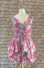 TOPSHOP Cocktail Party Pink Floral Puff Ball Sleeveless Dress BNWT UK 10 Holiday