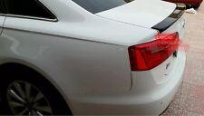 Painted Audi 12-14 A6 S6 C7 sedan DTO rear trunk spoiler color code: LY8X black◎