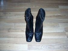 womans black heeled ankle boots size 7 uk