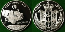 Niue 10 Dollar 1992 Moon Landing Luna 9 celebratory 0.999 Silver Coin Unc