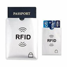 5 x Protector RFID Funda Anti Robo Tarjeta Crédito Pasaporte Cartera