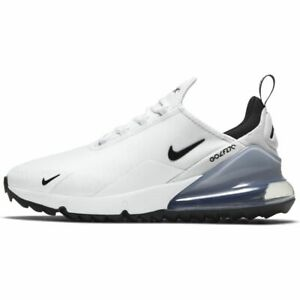 NEW Nike Air Max 270 G Golf Shoes - White/Black/Platinum - Drummond Golf