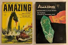 Lot of 2 Amazing Stories Fact and Science Fiction - August 1957 March 1965