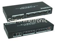 4K HDMI Splitter Verteiler 4x2 Matrix Umschalter EDID 3D 4IN 2OUT #6xDC1.0m