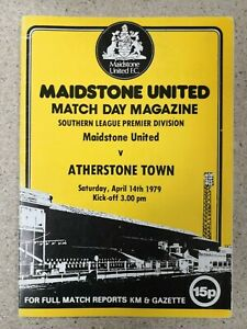 Maidstone United V Atherstone Town       14th April 1979