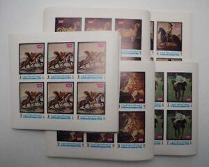 1970 Jemen; 240 Serien Pferde ungezähnt, **/MNH, MiNr. 1007/11 B, ME 1080,-