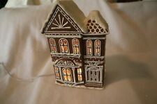 Midwest of Cannon Falls Baker Street Lighted #39833-3 Brownstone Rowhouse