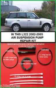 Range Rover L322 Air Suspension Compressor Pump Piston Ring & Seal Refurb kit