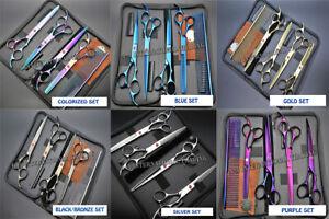"7.5"" Professional Pet Dog Cat Hair Grooming Scissors Clipper Shears Kit Case Set"