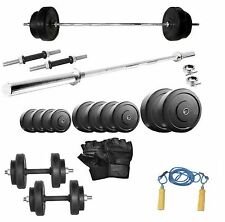 Protoner 20 Kg With 3 Feet Straight Rod Home Gym Fitness Pack Fitness