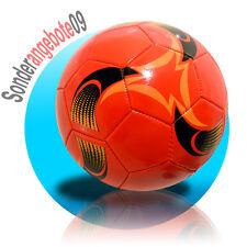 Fussball aufgepumpt Größe 5 Freizeitball Rot Schwarz Gelb Ball Spielball Stern