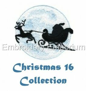 CHRISTMAS COLLECTION 16 - MACHINE EMBROIDERY DESIGNS ON CD OR USB