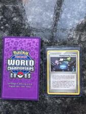2005 POKEMON ENGLISH WORLD CHAMPIONSHIP ARENA BLACKSTAR PROMO MEW & CARD HOLDER