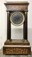 Grande PENDULE portique noyer marqueterie Clock часы klok antique uhren Kaminuhr