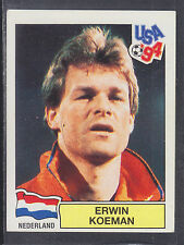 Panini - USA 94 World Cup - # 398 Erwin Koeman - Nederland (Green Back)