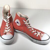 Converse mens shoes All Star chuck Taylors 2 Tones Orange Hi tops Sz7