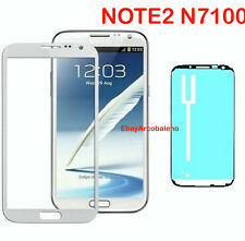 VETRO ESTERNO DISPLAY SAMSUNG GALAXY NOTE 2 GT N7100 NO TOUCH SCREEN BIANCO