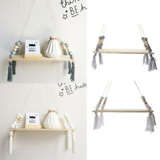 2pcs Wall Hanging Wooden Floating Shelves Entryway Bracket for CDs Toys Set