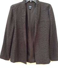 NWOT • EILEEN FISHER • Chocolate BROWN •100% SILK Jacket • Sz S