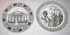 Slice of Life 2 Salad Plates White House Statue Liberty 222 FIFTH Shega Dayal