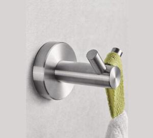 Door Coat Robe Towel Hook Holder Stainless Steel Bathroom Accessory 65mm x 45mm