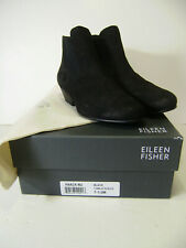 Eileen Fisher Black Tumbled Nubuck Booties 7 1/2 Medium