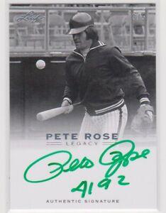 PETE ROSE 2011 LEAF AUTOGRAPH CARD 3/5