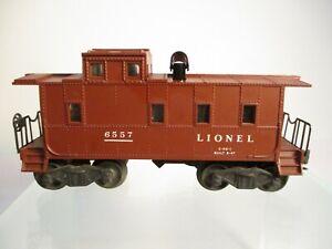 Lionel 6557 Smoking Caboose Brown Postwar O Gauge X7252