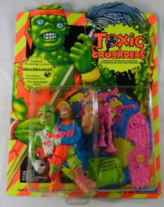 Playmates Toxic Crusaders Headbanger Action Figure No. 2002 Unpunched MOC 1991