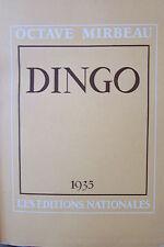OCTAVE MIRBEAU DINGO  EDITIONS NATIONALES 1935  Illustré PAR GUS BOFA