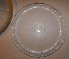 4 x Arcoroc Luminarc ' Fleur ' Dinner / Cake Plates Glass Floral ~ BULK LOT