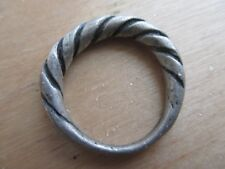 Beautiful medieval twisted silver ring Kievan Rus 12-13 AD.