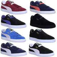Puma Suede Classic Plus Mens Suede Leather Trainers Size 6 - 12