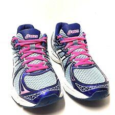 Asics Gel-Exalt 2 Womens Sneakers Blue Pink White Running Shoes T4B6N Size 10.5