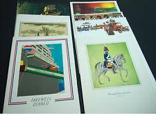 Vtg lot of 7 SS Nieuw Amsterdam Holland America Line Ship dining menus 1967