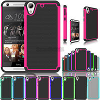 For HTC Desire 626 / 530 Shockproof Hybrid Rugged Rubber Armor Impact Case Cover