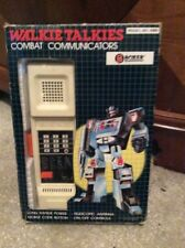 Vintage 80s Boxer combate Comunicaciones Walkie Talkies Poss bootleg transformers