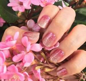 m9L3GoColorStreet CORAL BAY Nail Strips NEW Glitter Gradient Design **+TWOSIE**