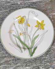 VINTAGE Block Spal Watercolors Daffodil Bread Plate 1983 Goertzen Portugal