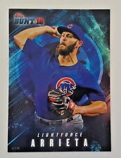 "2016 TOPPS BUNT JAKE ARRIETA ""LIGHTFORCE"" 5X7 JUMBO ART CARD #/49 CUBS"