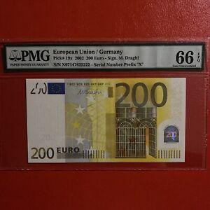 PMG 66 EPQ Germany 200 Euro 2002 Draghi.